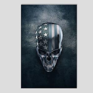 American Flag Skull Postcards (Package of 8)