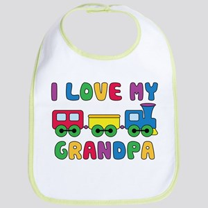 Love Grandpa Train Bib