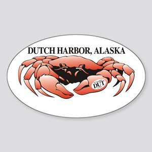 Dutch Harbor King Crab Oval Sticker