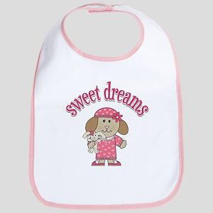Sweet Dreams Girl Bib