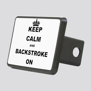 KEEP CALM AND BACKSTROKE ON Hitch Cover
