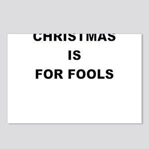 CHRISTMAS IS FOR FOOLS Postcards (Package of 8)