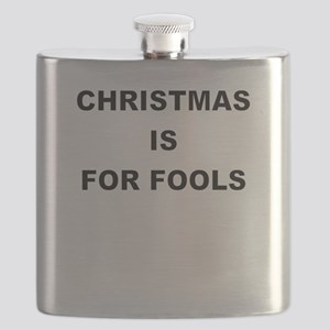 CHRISTMAS IS FOR FOOLS Flask