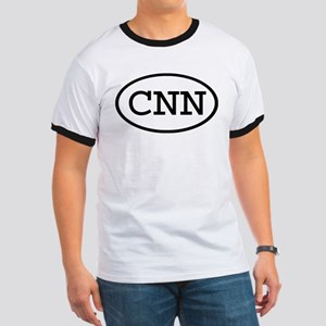 CNN Oval Ringer T