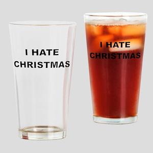 I HARE CHRISTMAS Drinking Glass