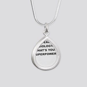 I TEACH BIOLOGY WHATS YOUR SUPERPOWER Necklaces