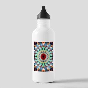 Mixed Media Mandala 2 Water Bottle
