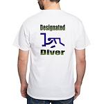 40-oz Designated Diver - White T-Shirt