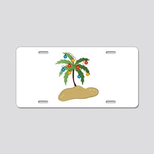 Tropical Christmas Aluminum License Plate
