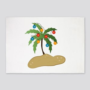 Tropical Christmas 5'x7'Area Rug