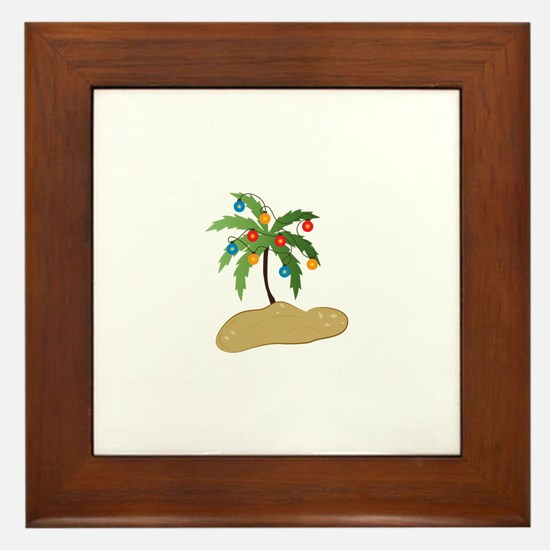 Tropical Christmas Framed Tile