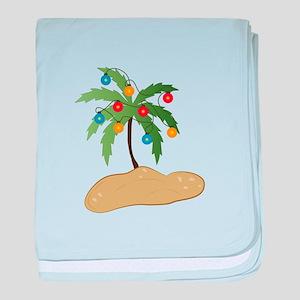 Tropical Christmas baby blanket