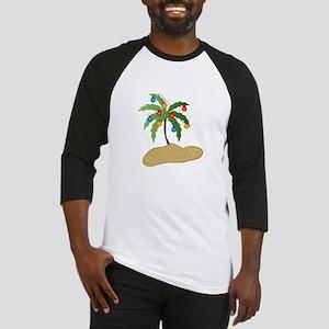 Tropical Christmas Baseball Jersey