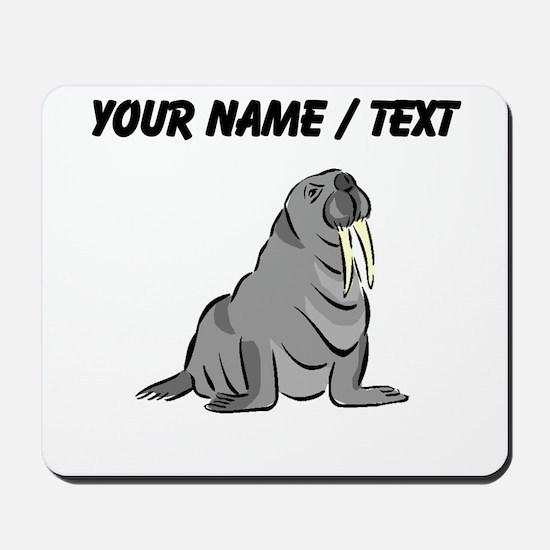 Custom Cartoon Walrus Mousepad