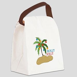 Holly Jolly Canvas Lunch Bag