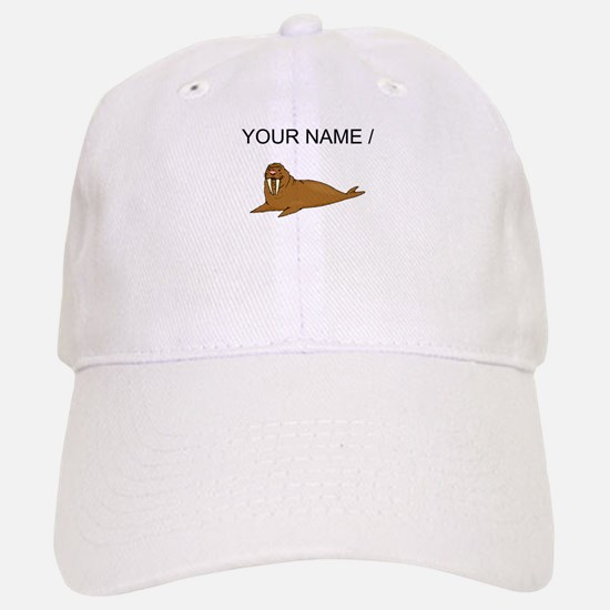 Custom Brown Walrus Baseball Baseball Baseball Cap