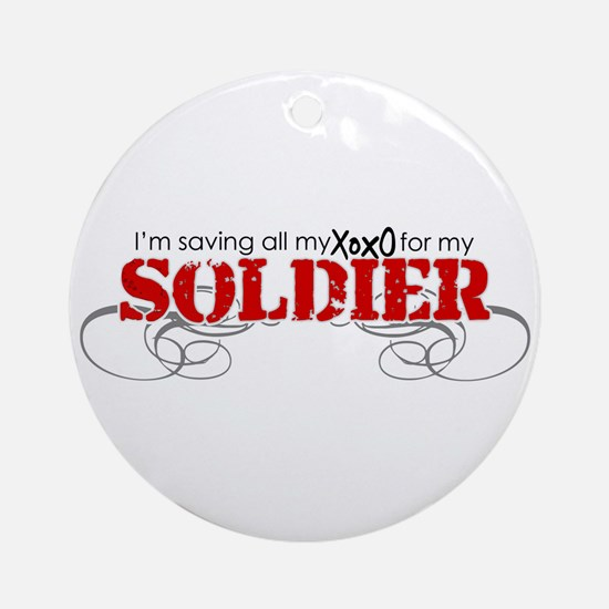 All My XOXO (Soldier) Ornament (Round)