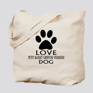 Love Petit Basset Griffon Vendeen Dog Tote Bag