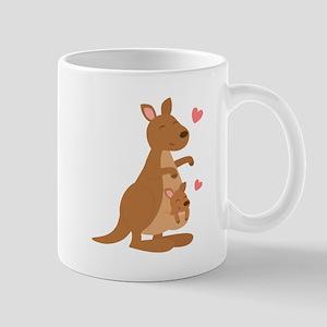 Cute Kangaroo and Baby Joey Mugs