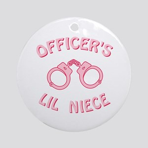 Officer's Lil Niece Ornament (Round)