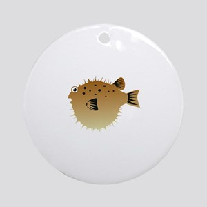 Blow Fish Ornament (Round)