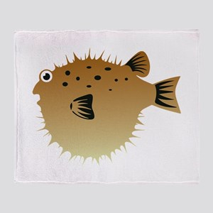 Blow Fish Throw Blanket