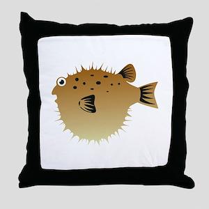 Blow Fish Throw Pillow