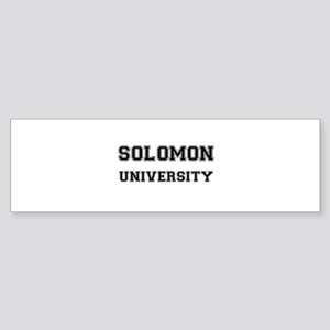 SOLOMON UNIVERSITY Bumper Sticker