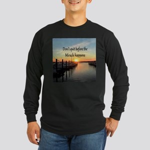 LOVE MIRACLES Long Sleeve Dark T-Shirt