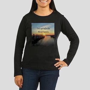 LOVE MIRACLES Women's Long Sleeve Dark T-Shirt
