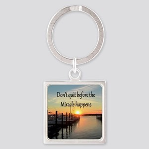 LOVE MIRACLES Square Keychain