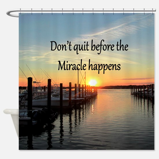 LOVE MIRACLES Shower Curtain