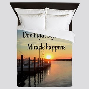 LOVE MIRACLES Queen Duvet