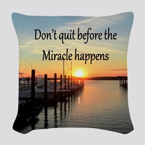 LOVE MIRACLES Woven Throw Pillow