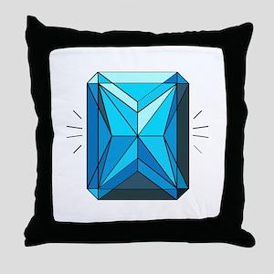 Blue Zircon Throw Pillow