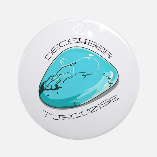 December Turquoise Ornament (Round)