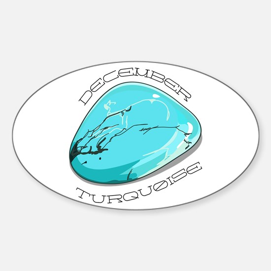 December Turquoise Decal