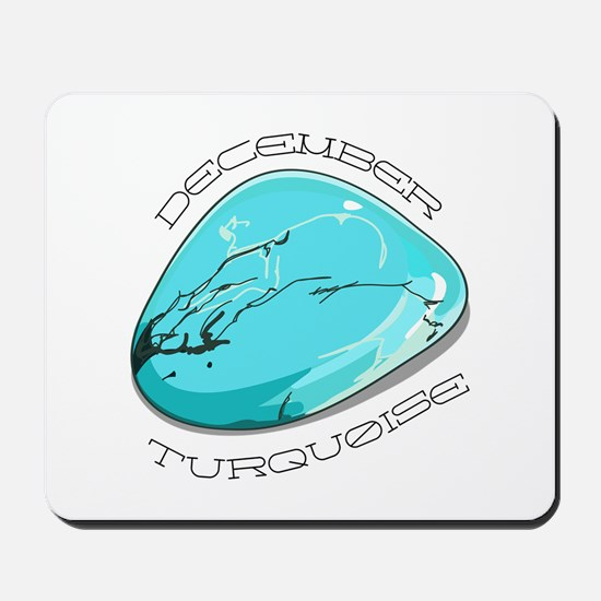 December Turquoise Mousepad