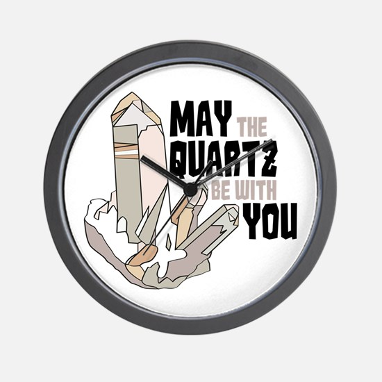 Quartz Be With You Wall Clock