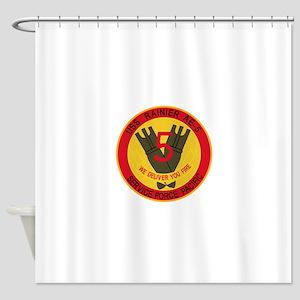 AE-5 USS RAINIER Ammunition Ship Mi Shower Curtain