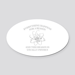 Everything Happens For A Reason Oval Car Magnet