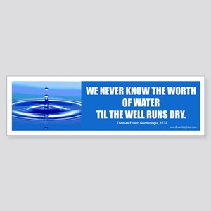 Water Conservation Bumper Sticker