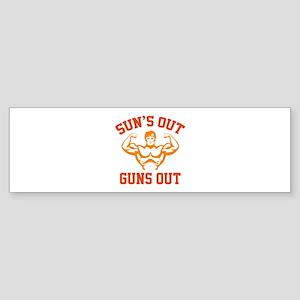 Sun's Out Guns Out Sticker (Bumper)