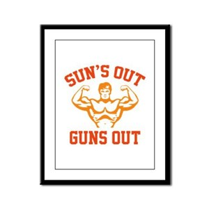 Sun's Out Guns Out Framed Panel Print