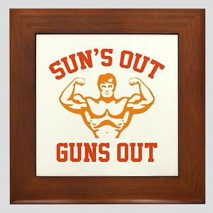 Sun's Out Guns Out Framed Tile