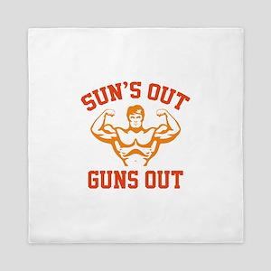 Sun's Out Guns Out Queen Duvet