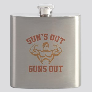 Sun's Out Guns Out Flask