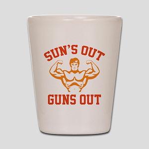 Sun's Out Guns Out Shot Glass