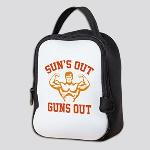 Sun's Out Guns Out Neoprene Lunch Bag