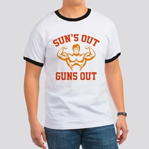 Sun's Out Guns Out Ringer T